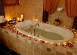 A spa bath at the Taman Sari Royal Heritage Spa in Whistler, British Columbia, Canada
