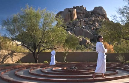 The meditative maze at The Boulders, A Waldorf Astoria Resort