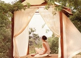 T-Houses for meditation at the Spa Ojai