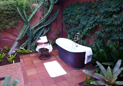 A soaking tub at The Spa at Rancho Valencia in Rancho Santa Fe, California
