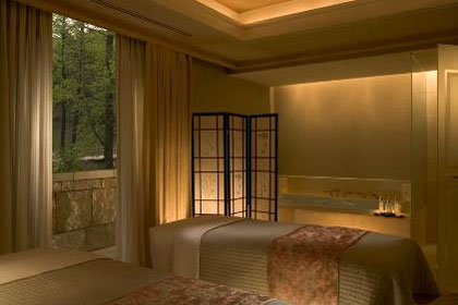 The couples treatment room at The Umstead Spa