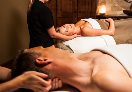 Indulge in a romantic package at one of the couple's treatment rooms at The Spa at Stein Eriksen Lodge