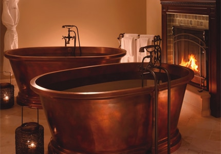 Enjoy a relaxing bath in a copper tub at Spa Montage Deer Valley