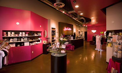 The reception area of Fuchsia in Mesa, Arizona