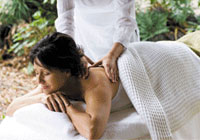Enjoy an outdoor massage at a great value
