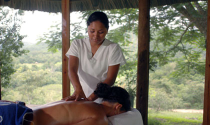 The spa at Chaa Creek is set above Belize's Macal River in the midst of a private 365-acre nature reserve