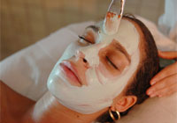Natural plants and minerals are used in facials at the Chaa Creek spa