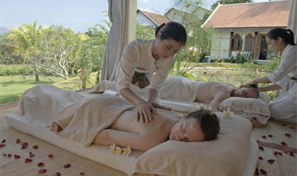 Massage treatments at The Mekong Spa at La Residence Phou Vao in Laos, one of GAYOT's Top 10 Value Spas