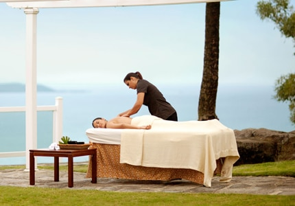 Enjoy a soothing massage at the Waldorf Astoria Spa at El Conquistador Resort in Puerto Rico