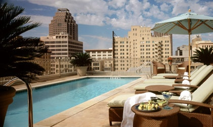 The rooftop pool at the Watermark Hotel & Spa in Texas