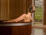 Guests can try the relaxing Barrel Bath at Les Sources de Caudalie in Bordeaux, France