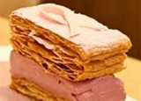 The Pink Napoleon dessert is among the Go Pink menu items at Central Michel Richard