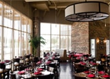 The dining room of Brownstone in Fort Worth