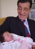Ciro Marino with granddaughter Mariasole