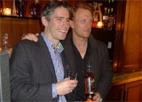 The Macallan Brand Ambassador Charlie Whitfield with actor Kevin McKidd