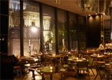 The dining room of Barbecoa restaurant in London