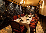 Private dining space in the wine cellar of The Rib Room