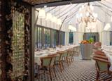 The dining room of Il Carpaccio