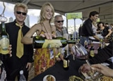 Sampling wines at the San Diego Bay Wine & Food Festival