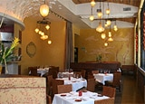 The dining room at Jsix restaurant in San Diego