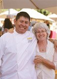 Executive chef Erasto Jacinto and Cindy Pawlcyn