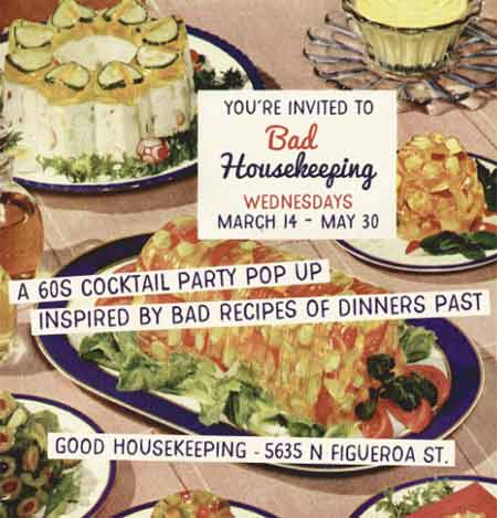 Good Housekeeping bar is hosting a themed cocktail pop-up inspired by retro dinner party recipes