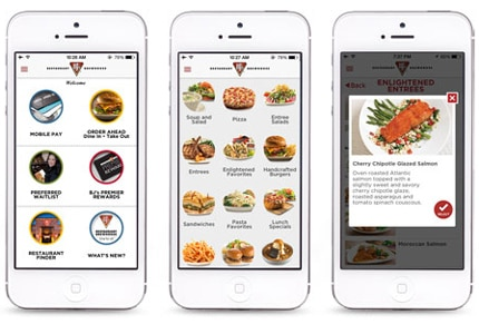 BJ's Restaurant & Brewhouse has launched a mobile app