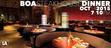 BOA Steakhouse will host a tasting of 20 cult wines on October 14