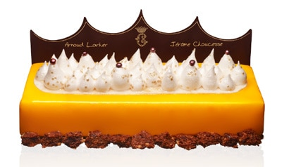 Buche de Noel created by pastry chef Jerome Chaucesse and master chocolatier Arnaud Larher