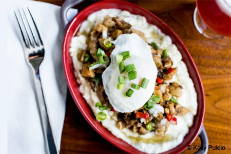 Sisig and grits, part of the Sunday Funday menu at Buffalo Theory in San Francisco