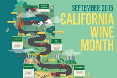 California Wine Month takes place in September and features tastings, festivals and more