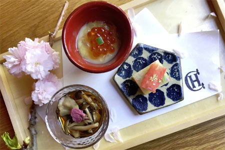 Chateau Hanare will feature a special kaiseki menu in honor of cherry blossom season