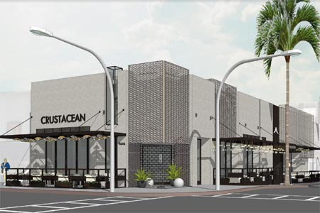 Renderings for the renovations of Crustacean Beverly Hills