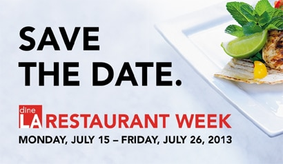 Enjoy Deals during dineLA Restaurant Week July 15-26