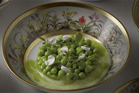 Ducasse au Château de Versailles presents a dinner themed around The King's Early Vegetables