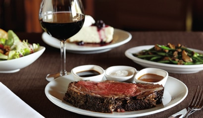 The prime rib special is back at Flemings Prime Steakhouse & Wine Bar