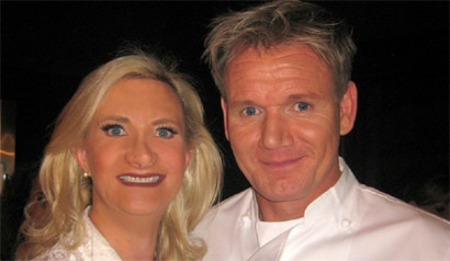 Sophie Gayot of GAYOT.com with chef Gordon Ramsay