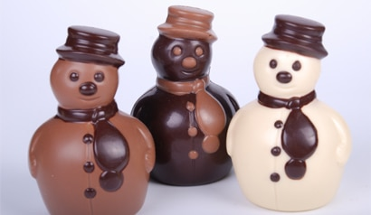 Jacques Torres Chocolate holiday collection snowmen (Photo courtesy of Jacques Torres Chocolate)