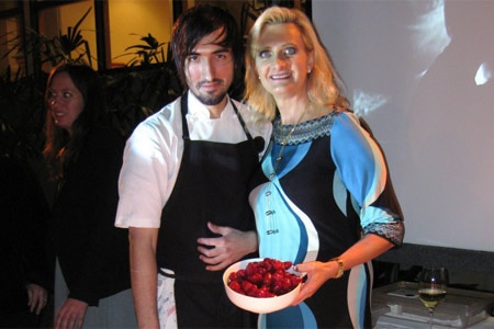 Chef Jordan Kahn with Sophie Gayot