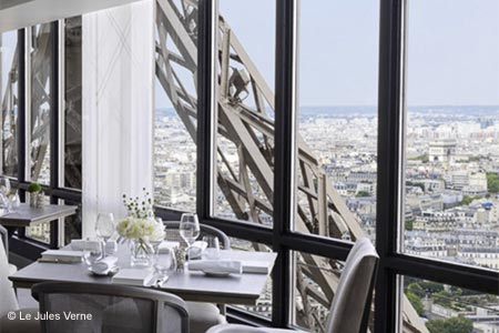 Le Jules Verne restaurant in the Eiffel Tower has re-opened