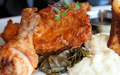 Fried chicken at Maxs Wine Dive