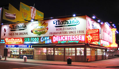 Nathans Famous has re-opened on Coney Island