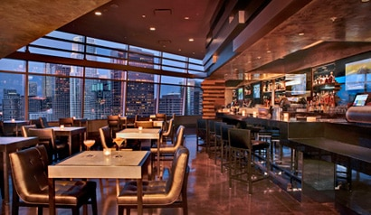 The bar at Wolfgang Puck