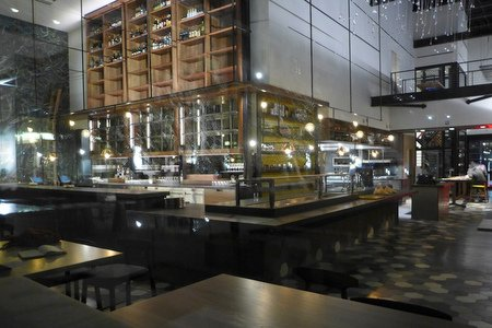 Interior view of Otium restaurant at The Broad museum on Bunker Hill