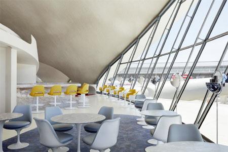 Jean-Georges Vongerichten oversees the Paris Cafe restaurant at TWA Hotel