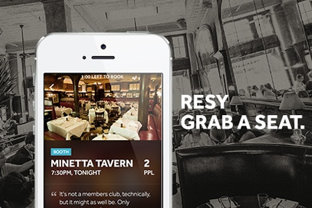 Get last-minute tables at in-demand restaurants with the mobile app RESY