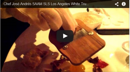 Saam at The Bazaar by José Andrés presents its annual White Truffle Dinner Series