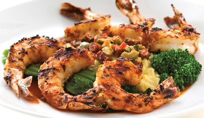 Mesquite-grilled garlic shrimp from Seasons 52