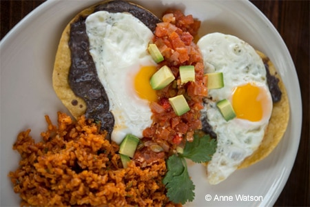 Huevos rancheros at solita Tacos & Margaritas