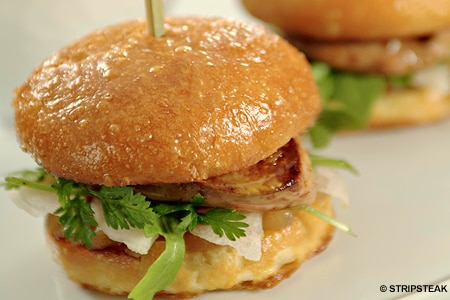 Foie gras sliders will be part of the special throwback menu at StripSteak